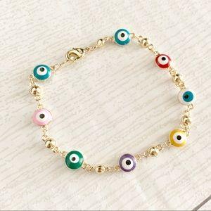 4fdfc3ee37f3f4 Jewelry - New Evil Eye Bracelet with multi color Pendants